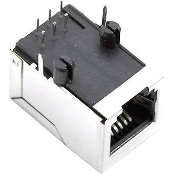 BEL Stewart conectores SS64600-025F SS64600-025F RJ45 enchufe horizontal cubierto de Monte níquel, Metal