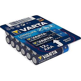 Varta Longlife Power LR03 AAA batteri Alkali-mangan 1,5 V 12 pc(er)