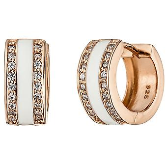 Hoops around 925 Silver Gold gold-plated cubic zirconia earrings