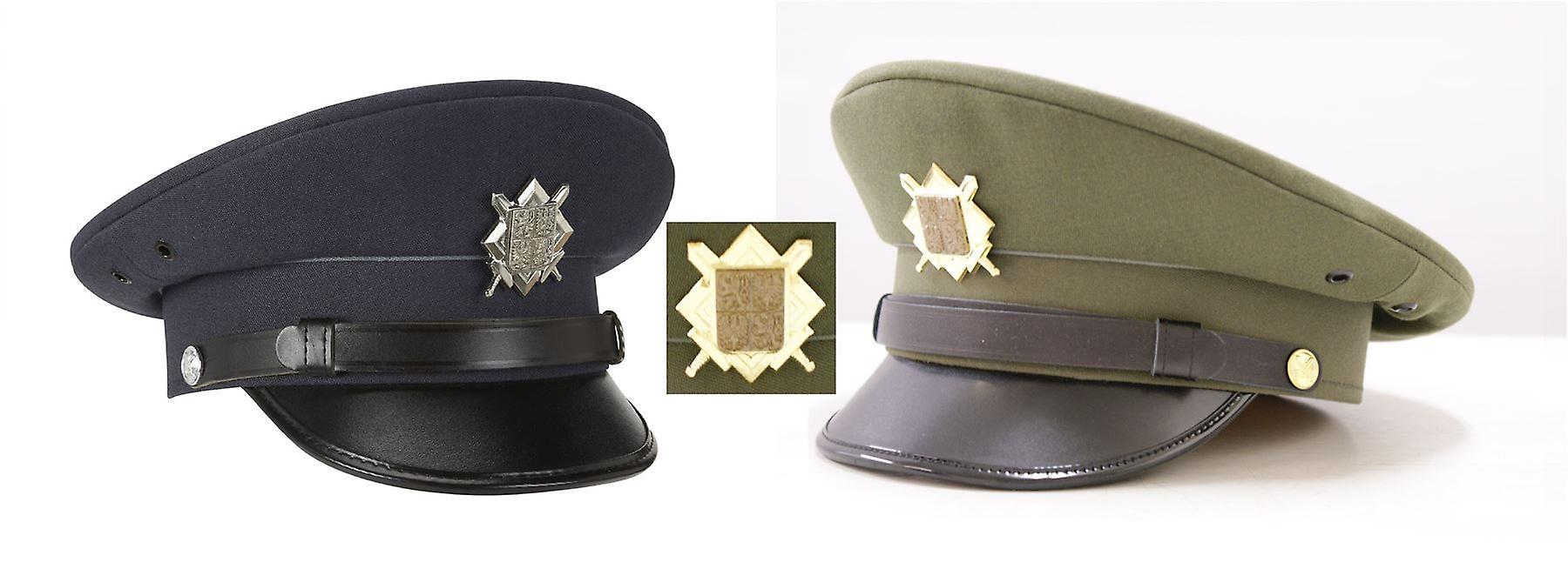 Czech Military Nco Army Officers Peaked Cap Badge
