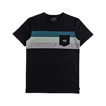 Quiksilver progressão pacífica manga curta T-shirt em preto