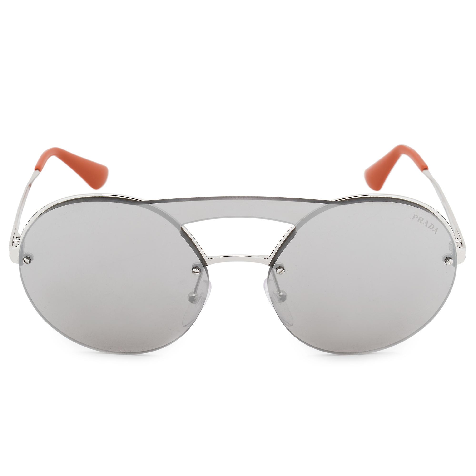 Prada Single Lens Round Sunglasses PR65TS 1BC2B0 36
