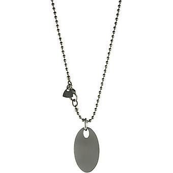 Ti2 Titanium Oval Pendant - Silver