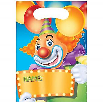 Funny circus kids party party bags 8 piece circus party birthday decoration