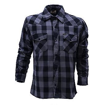 Lucky 13 men's long-sleeve shirt shocker flannel black/grey