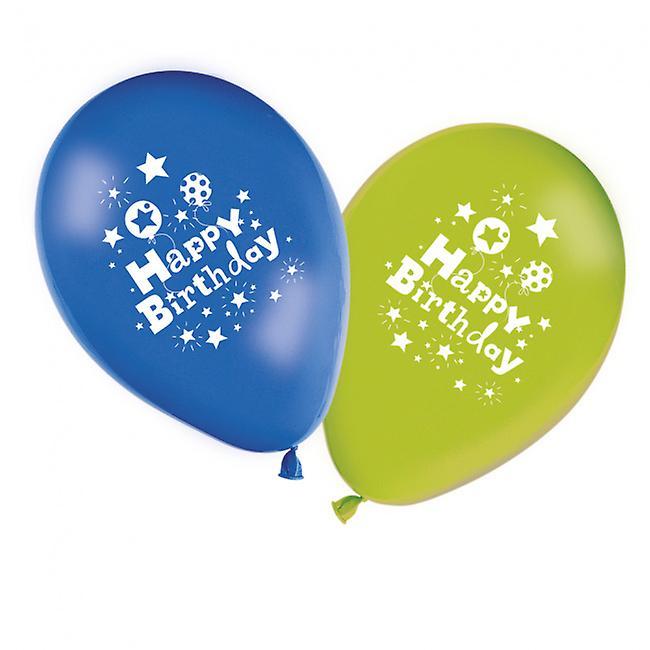 8 Födelsedagsballonger  Happy Birthday 11