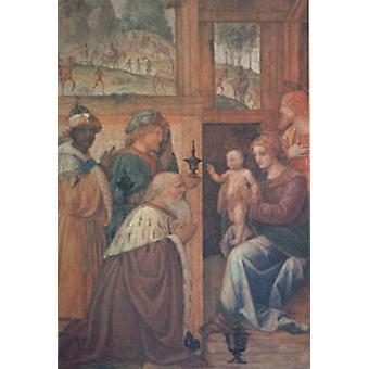 De aanbidding van de Magi, Bernardino Luini