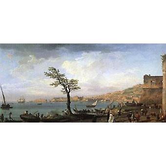 Uitzicht op de Golf van Napels, VERNET Claude-Joseph, 80x40cm