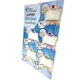 Groom Professional Dog Grooming Clipper Blade Length Chart Guide