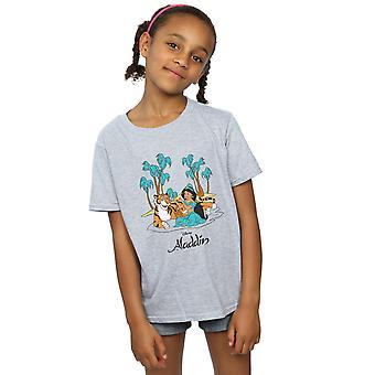 T-shirt Disney ragazze Aladdin Jasmine Abu Rajah Beach