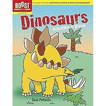 Coup de pouce de dinosaures coloriages