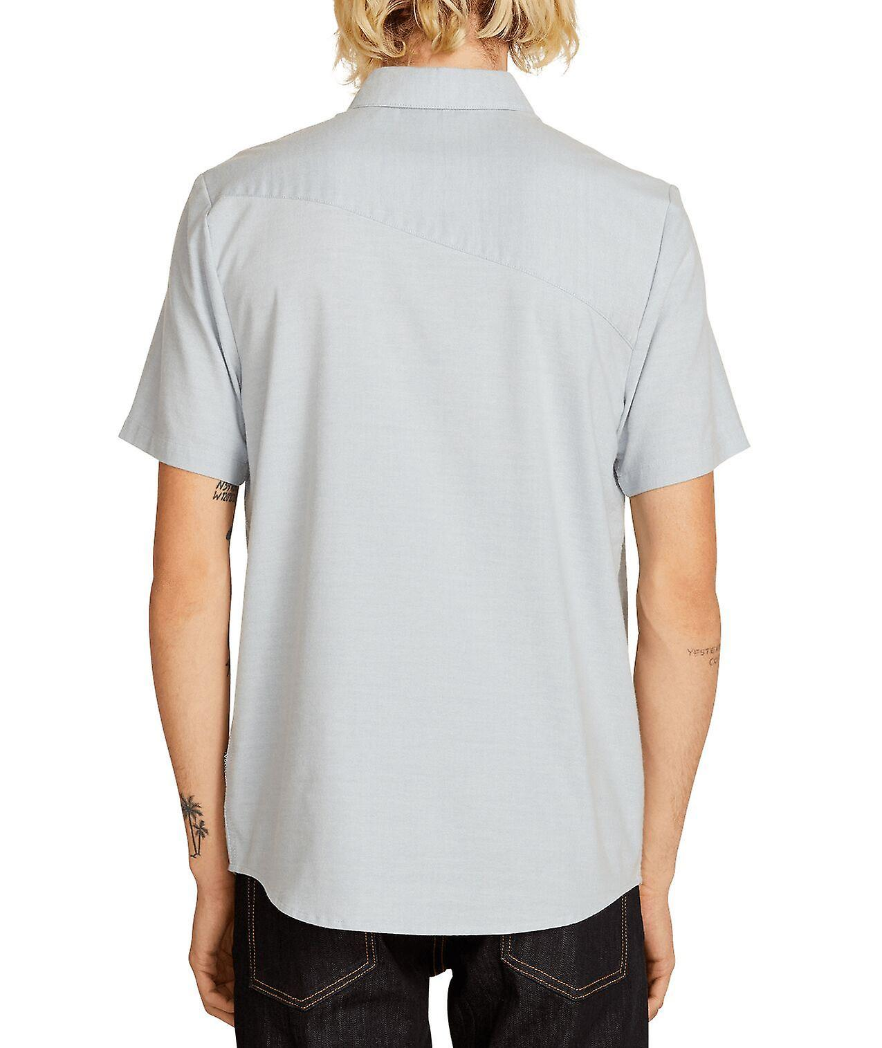 Volcom Men's Shirt ~ Everett Oxford blue