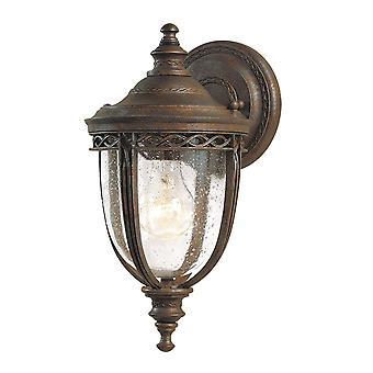 Englisch Zaum eine Lichtwand kleine Laterne britischen Bronze - Elstead Beleuchtung