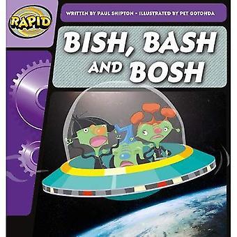 Snelle Phonics Bish en Bash Bosh stap 2 (fictie) (snelle Phonics)