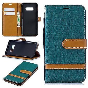 Samsung Galaxy S10e teléfono bolsa protectora caso caso bolsa monedero tarjeta verde de la cubierta