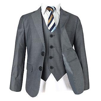 Boys Grey Page Boy Suit 3 or 5 PC Italian Fitted Suits