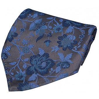 David Van Hagen fazzoletto di seta motivi floreali - rosa scuro