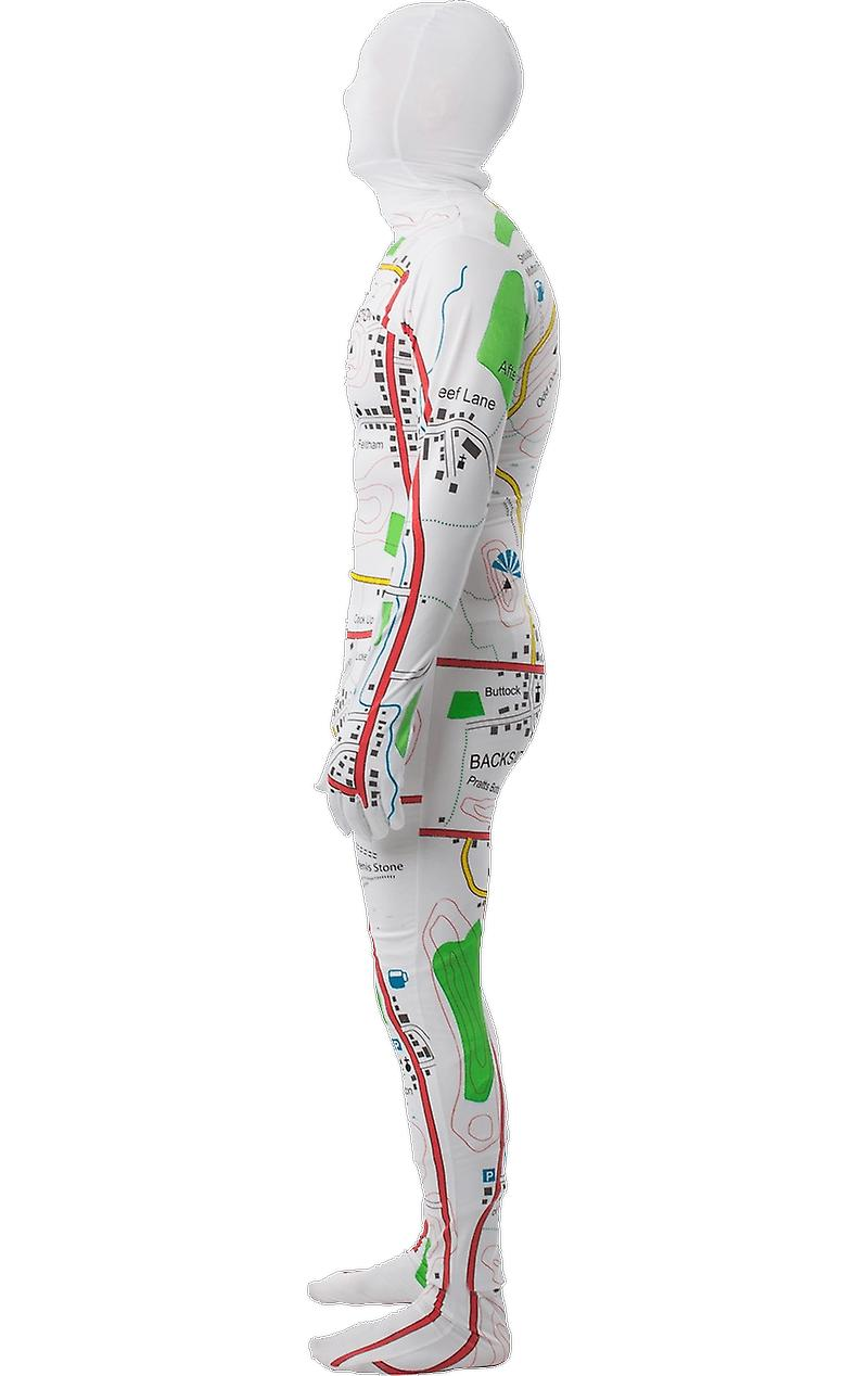 Orion Costumes Mens Map Bodysuit Rude & Naughty Stag Night Fancy Dress