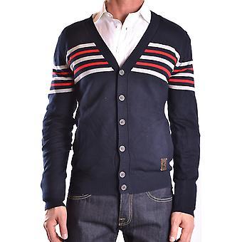 Frankie Morello Ezbc167046 Men-apos;s Blue Cotton Cardigan