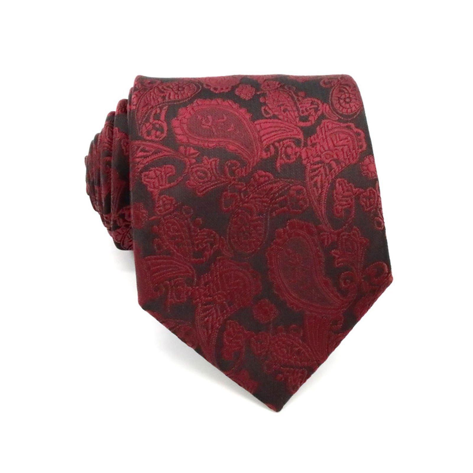 Red wine wedding party event pocket square & tie set