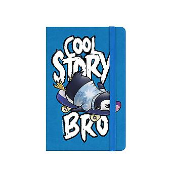 Psycho Penguin Cool Story Bro A6 Hard Cover Notebook