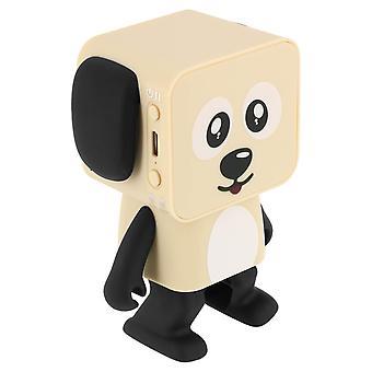 Bluetooth Speaker Dancing Dog Wireless Microphone MOB Beige and Black