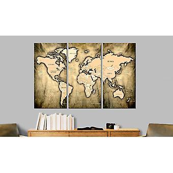 Maalaus - Maailmankartta: Ajan hiekka 120x80