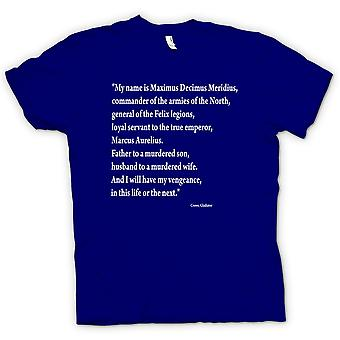 Womens T-shirt-Gladiator - Quote - Russell Crowe