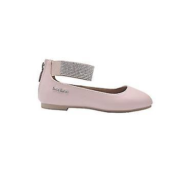 bebe Girls Ballet Flats Little Kid Slip On Sandals With Rhienstone Ankle Strap