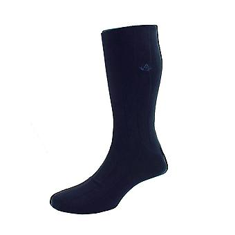 Sea island cotton socks – navy