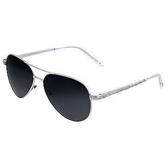 Breed Void Titanium Polarisierte Sonnenbrille - Silber/Schwarz