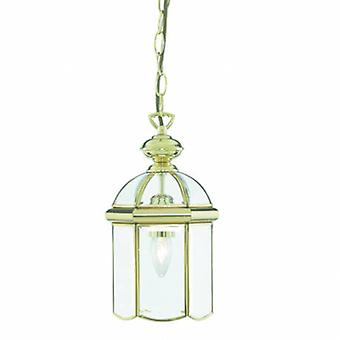 1 Light Ceiling Lantern Pendant Polished Brass
