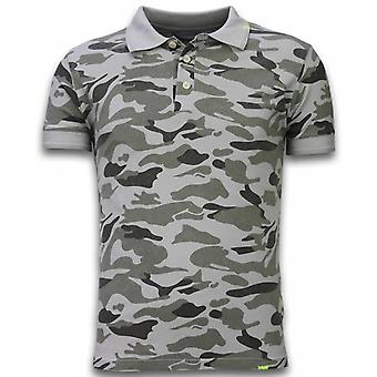 Camo Polo Shirt-Washed Camouflage-Grey