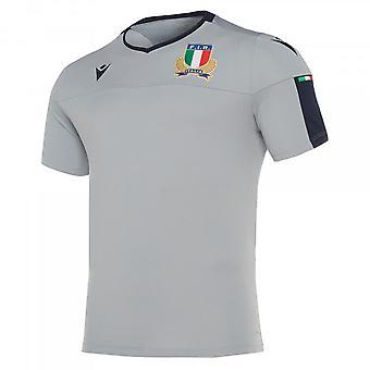 2019-2020 Italien macron Rugby spelare utbildning skjorta (grå)