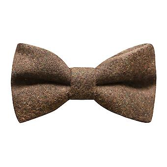 Heritage Check Cedar Brown Bow Tie, Tweed, Country Bow Tie