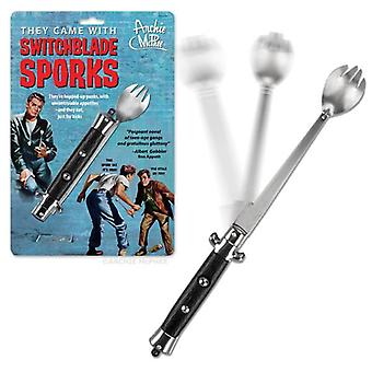 Merci Personaggio - Archie McPhee - Spork - Switchblade Folding 12219