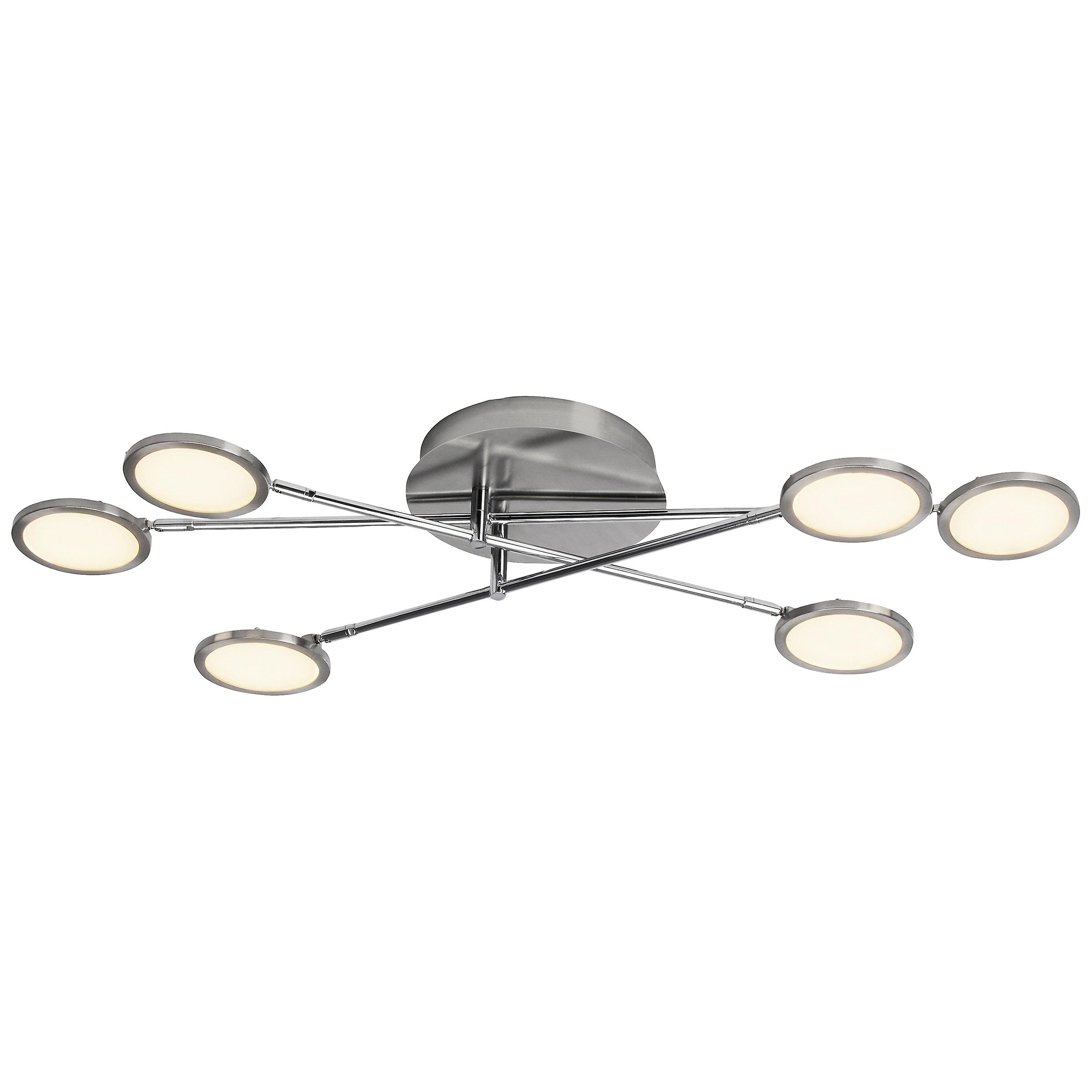 Brilliant Lampe Harlie LED Wand- und Deckenleuchte 6flg nickel matt