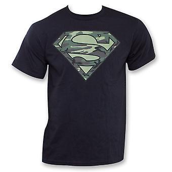 Superman Camo Logo Black T-Shirt