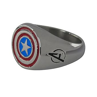 Captain America Shield roestvrijstalen Vergulde ring