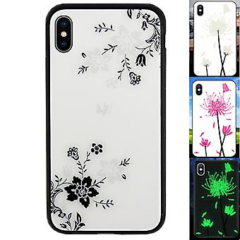 BackCover Magic Glass for Apple iPhone X - XS Flower1