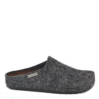 Shepherd of Sweden Isabel Black Wool Slipper