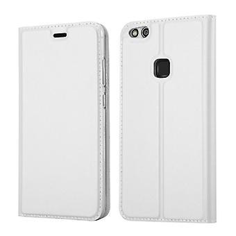 Cadorabo Hülle für Huawei P10 LITE Case Cover - Handyhülle mit Magnetverschluss, Standfunktion und Kartenfach – Case Cover Schutzhülle Etui Tasche Book Klapp Style