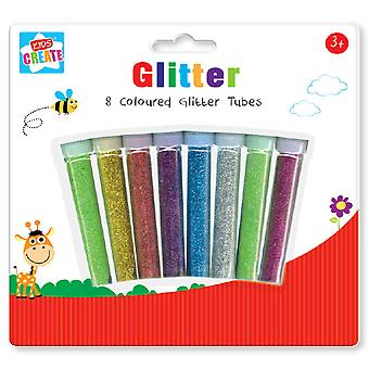 Kids Create Craft Kit 8 Assorted Colour Glitter Tubes