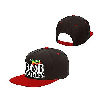 Bob Marley Baseball Cap Jamaican Flag Rasta Logo new Official Black Snapback