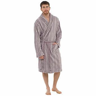 الرجال Pinstripe المرجان الصوف خلع الملابس ثوب رمادي العشرين كبيرة
