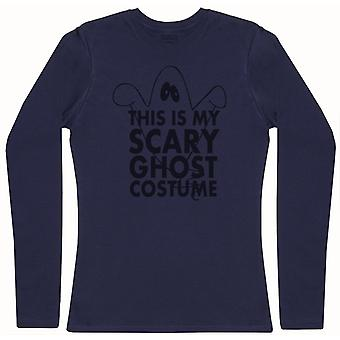 This Is My Scary Ghost Costume - Womens Long Sleeve T-Shirt