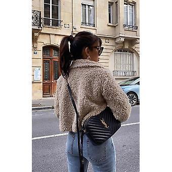 IKRUSH Womens Emma Furry Cropped Jacket