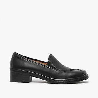 Gabor Frith Ladies Leather Slip On Shoes Black