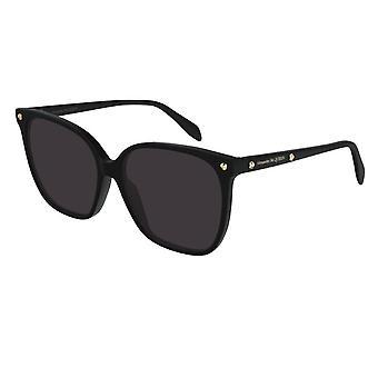Alexander McQueen  Am0188s 001 59 Edge Black And Grey Square Ladies Sunglasses