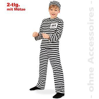 Straffefange kostume børn fange straffefange kostume vaneforbryder barn kostume